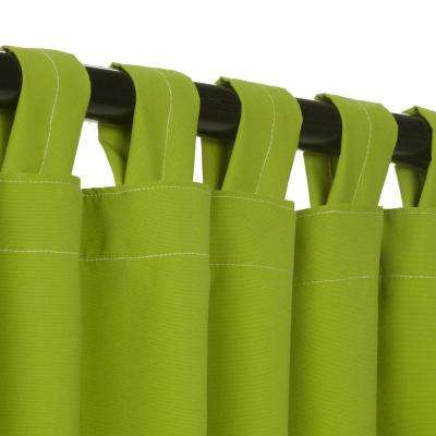 50 in. x 108 in. Outdoor Single Curtain with Tabs in Green