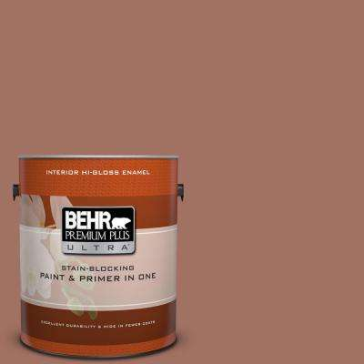 1 gal. #200F-5 Toasted Nutmeg Hi-Gloss Enamel Interior Paint