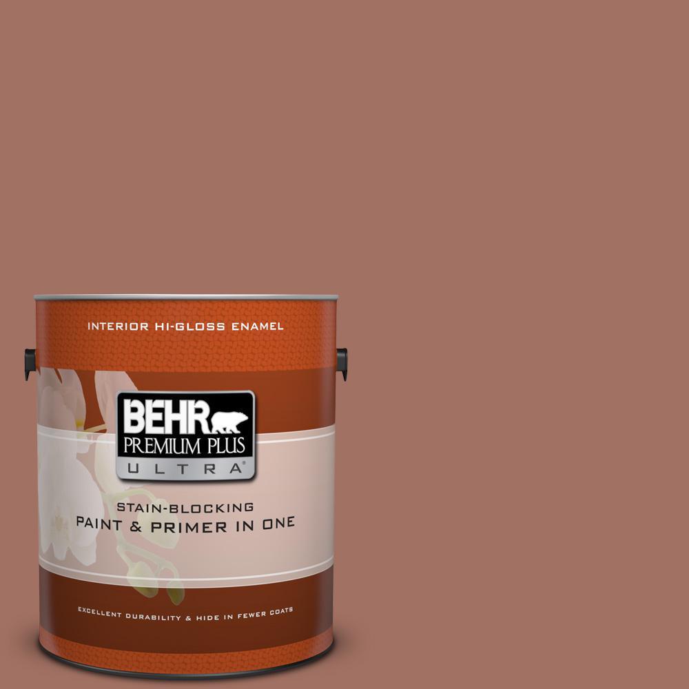 1 gal. #200F-5 Toasted Nutmeg Hi-Gloss Enamel Interior Paint