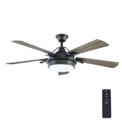 Integrated LED Indoor/Outdoor Natural Iron Ceiling Fan With Light Kit