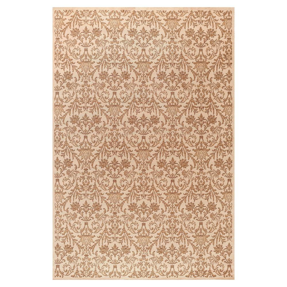 Jewel Damask Ivory 3 ft. 11 in. x 5 ft. 7