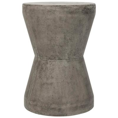 Torre Dark Gray Round Stone Indoor/Outdoor Accent Table