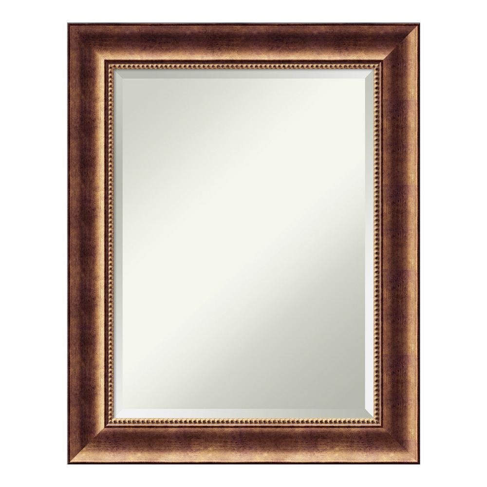 Manhattan Bronze Wood 24 in. x 30 in. Traditional Bathroom Vanity Mirror