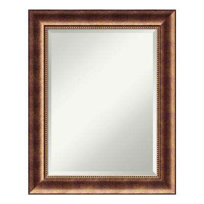 Manhattan Bronze Wood 24 in. x 30 in. Traditional Bathroom Vanity Mirror