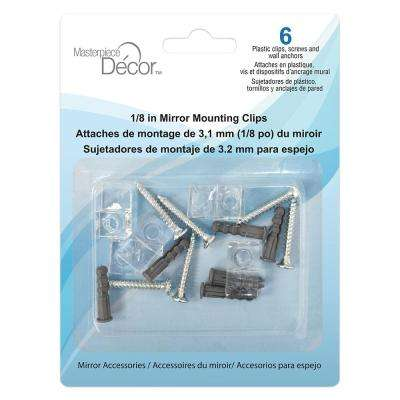 Plastic Mirror Mounting Clips (6-Pack)