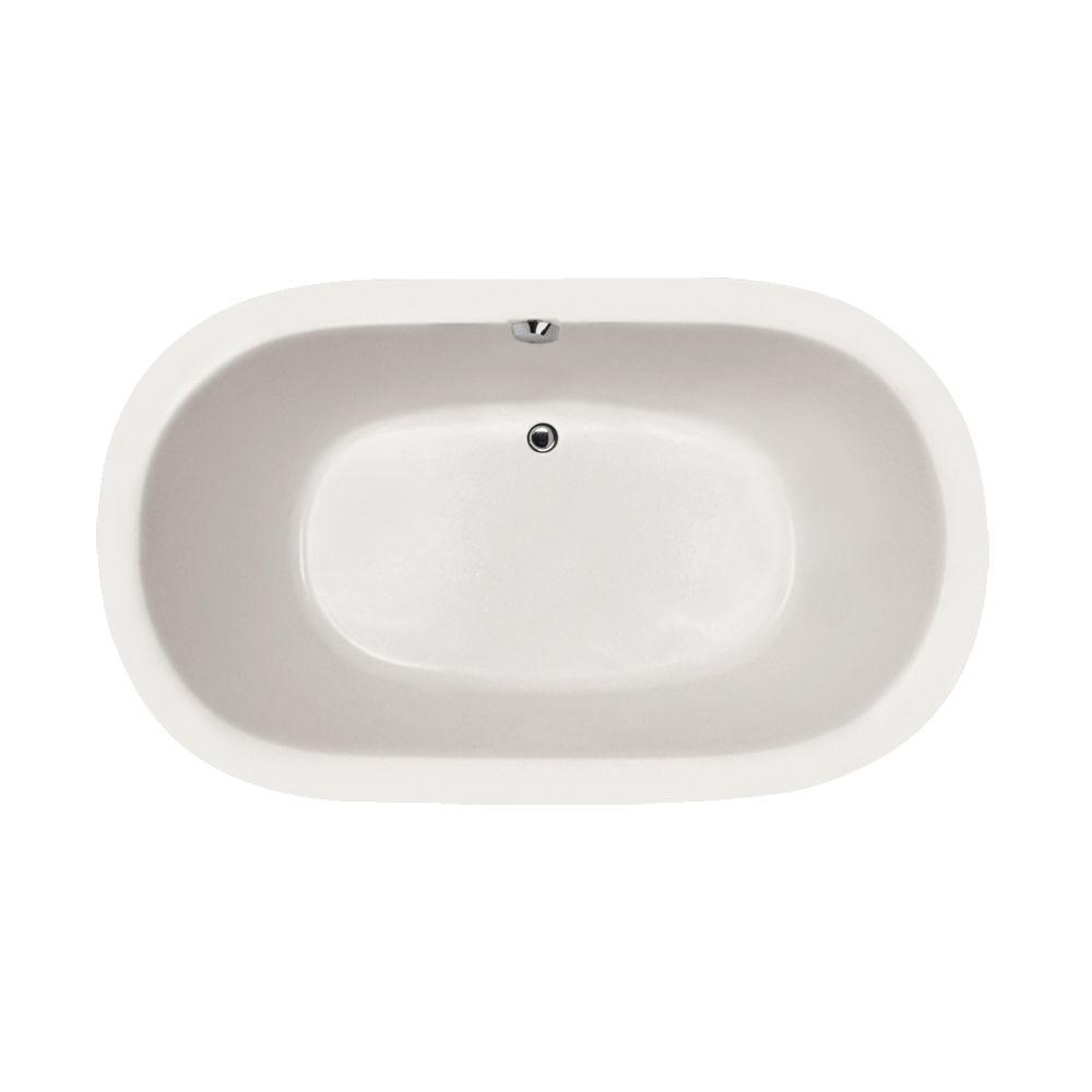 Concord 5 ft. Reversible Drain Air Bath Tub in White