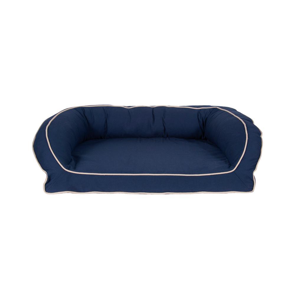 Cool Carolina Pet Company Large X Large Blue Classic Canvas Bolster Bed Inzonedesignstudio Interior Chair Design Inzonedesignstudiocom