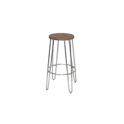28.94 in. Chrome Bar Stool