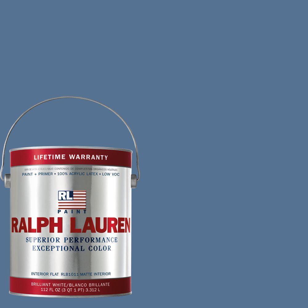 Ralph Lauren 1-gal. Sandoval Blue Flat Interior Paint