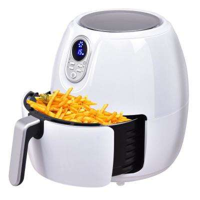 Timer Temperature Control Electric Air Fryer Digital LCD Screen in White