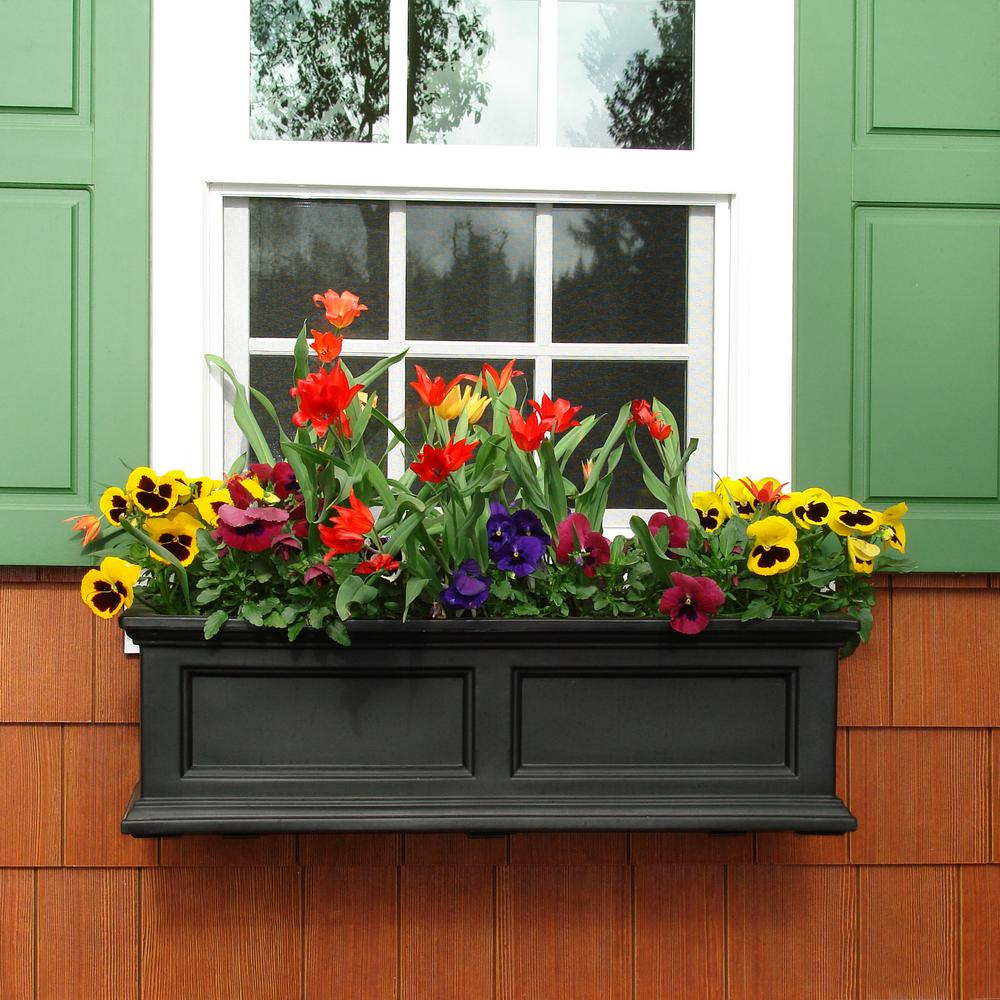 Mayne Fairfield 11 In X 36 In Plastic Window Box 5822b