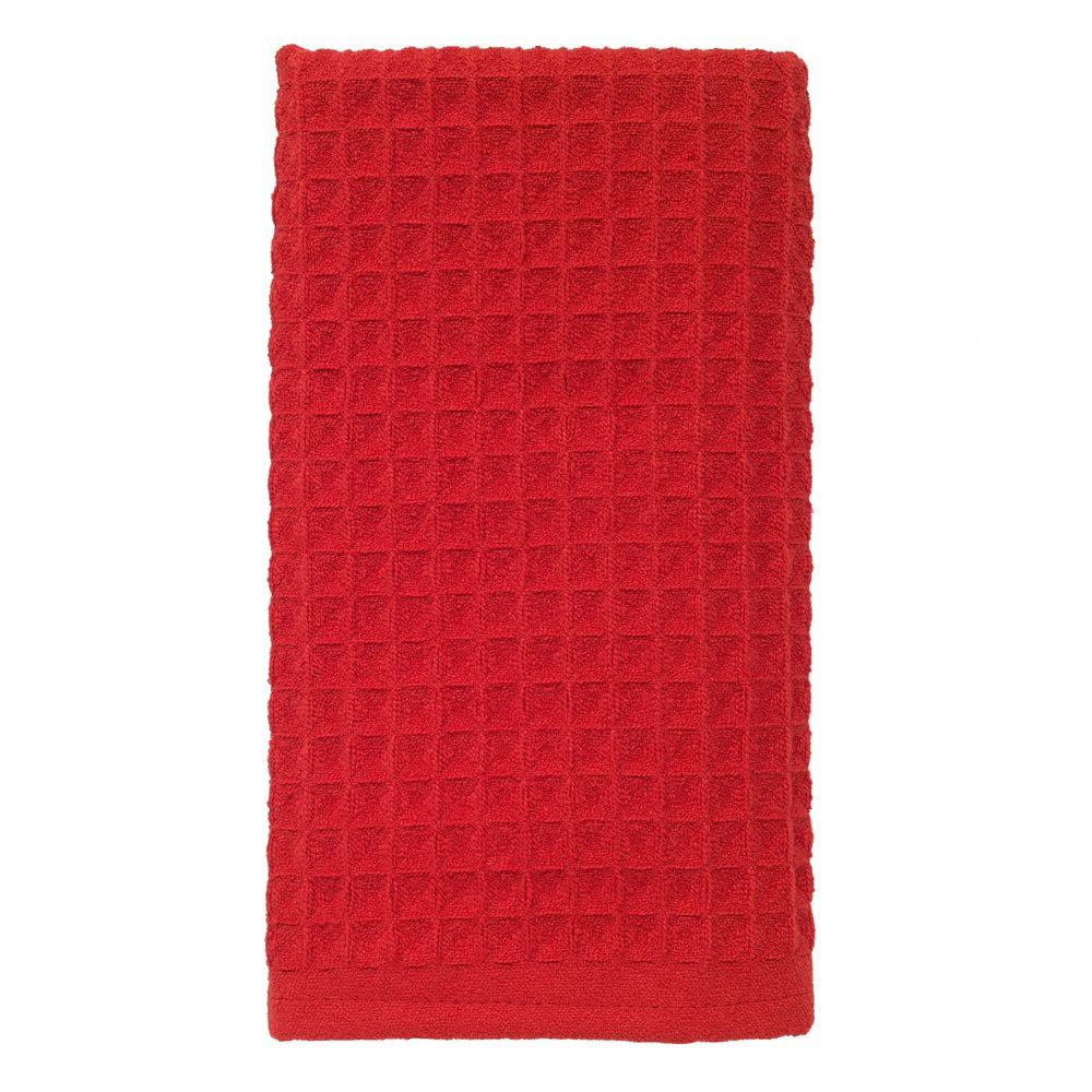 Red Kitchen Towels: RITZ 16 In. X 26 In. Large Waffle Microfiber Kitchen Towel