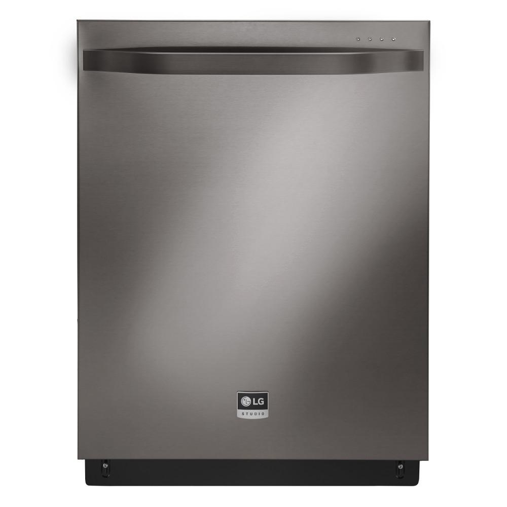 LG STUDIO Top Control Dishwasher in Black Stainless Steel...
