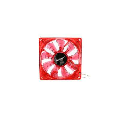 90 mm Red 2-Ball Bearing PWM Red LED 12-Volt DC Fan in Red