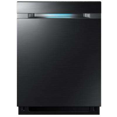 24 in Top Control Dishwasher Tall Tub Dishwasher in Black Stainless Steel with 2X Zone Booster and AutoRelease Door