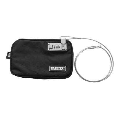 Locking Water-Resistant Field Pouch with Tether, Small, Black