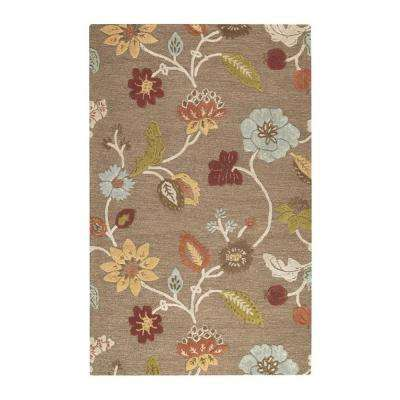 Portico Grey Brown 4 ft. x 6 ft. Area Rug