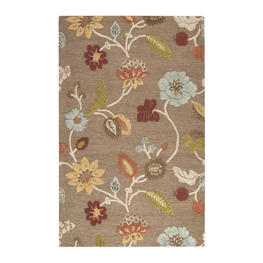 Portico Grey Brown 5 ft. 3 in. x 8 ft. 3