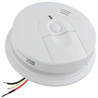 FireX 120-Volt Hardwired Interconnectable i4618 Ionization Smoke Alarm with Battery Backup