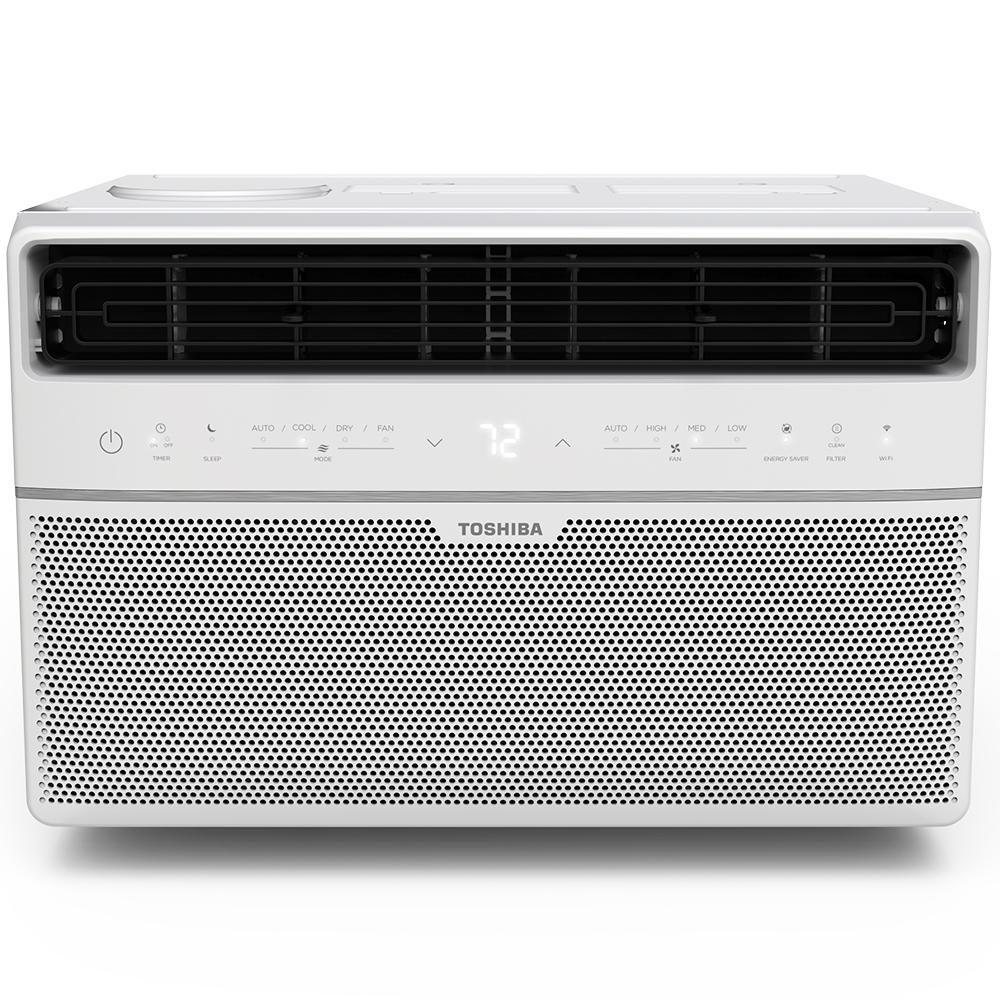 Toshiba 8,000 BTU 115-Volt Smart Wi-Fi Window Air Conditioner with Remote and ENERGY STAR in White