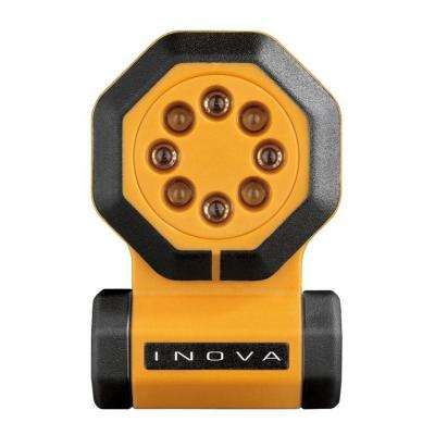 24/7 Yellow Body Flashlight with (1) 123A Lithium Battery Hang Box