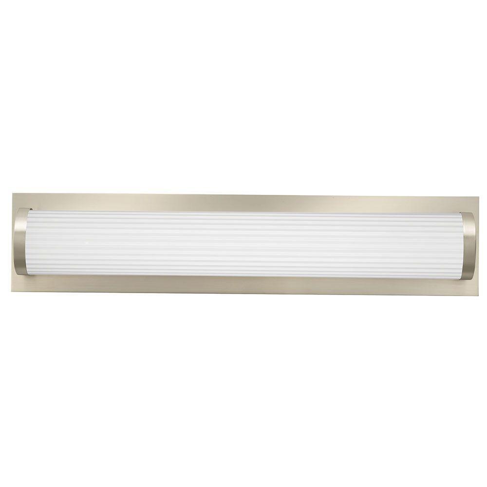 Traditional Round 2-Light Brushed Nickel 3K LED Vanity Light