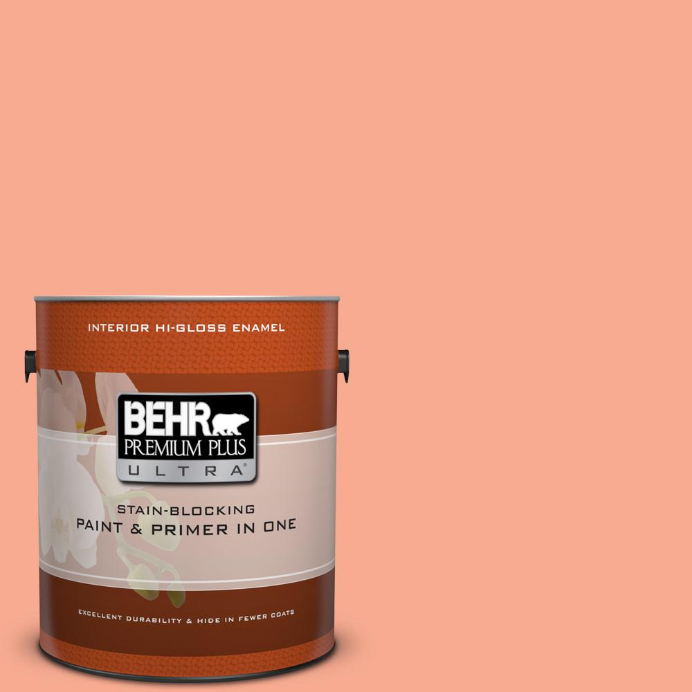 1 gal. #210B-4 Sunset Strip Hi-Gloss Enamel Interior Paint