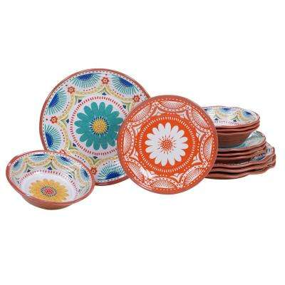 Vera Cruz 12-Piece Multicolor Dinnerware Set