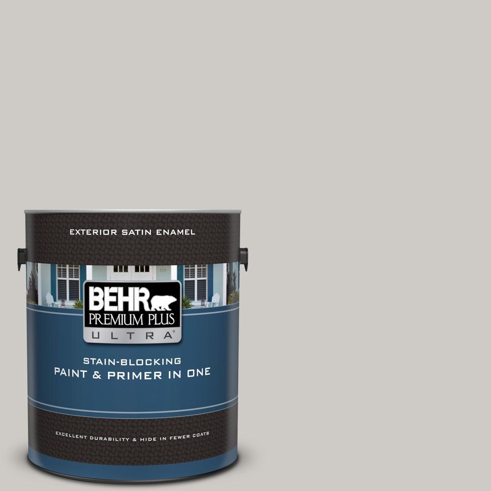 Behr Premium Plus Ultra 1 Gal Ppu26 10 Chic Gray Satin Enamel Exterior