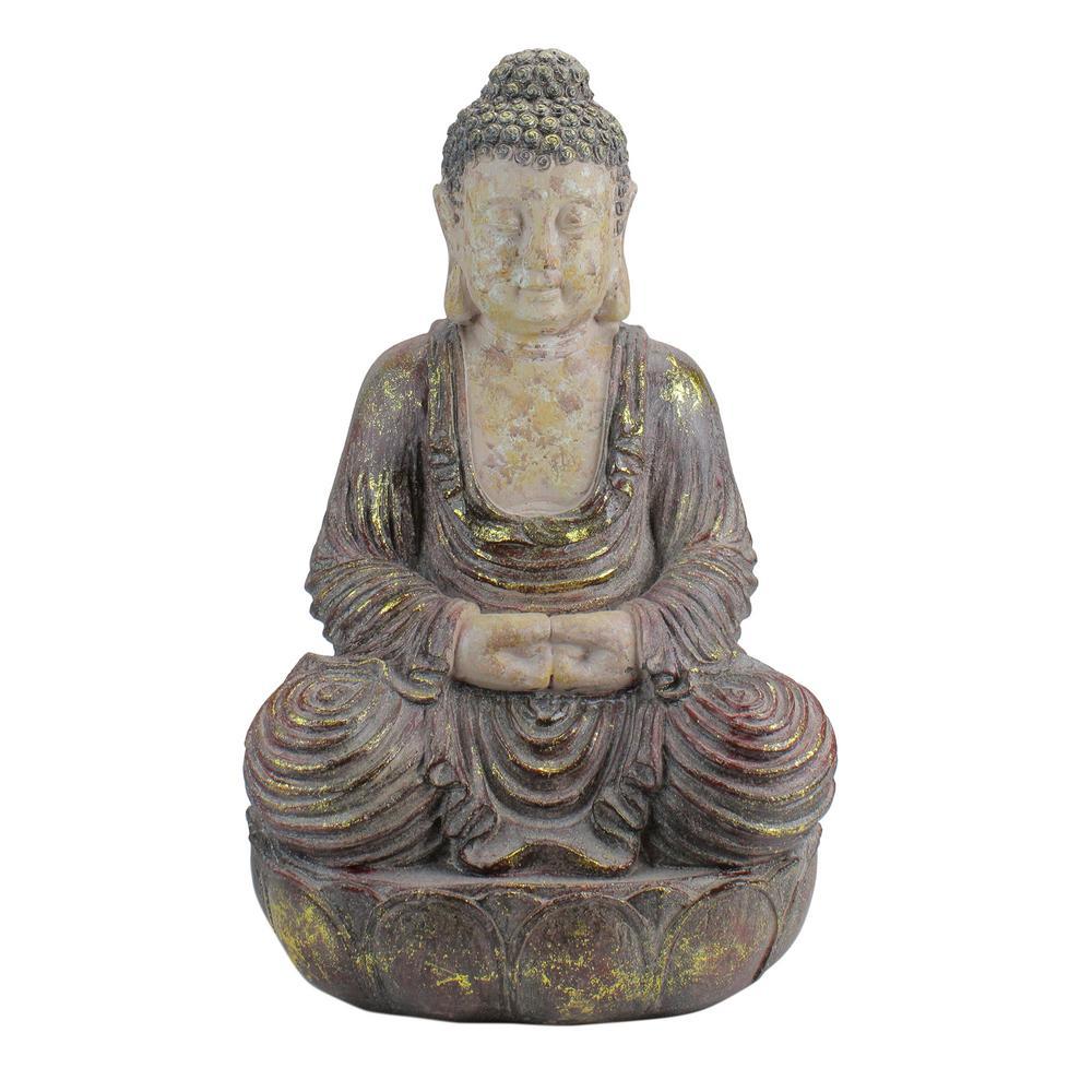 22 in. Meditating Buddha Outdoor Garden Statue
