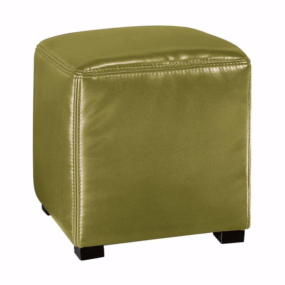 Home Decorators Collection Tracie Green Basic Leather Ottoman