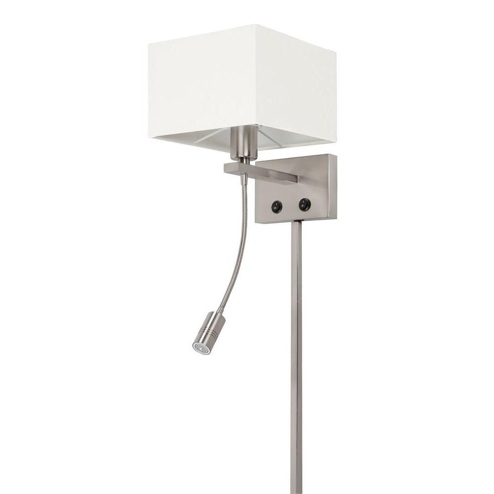 Aspects 1-Light Satin Nickel Portable Lamp with LED Reading Light