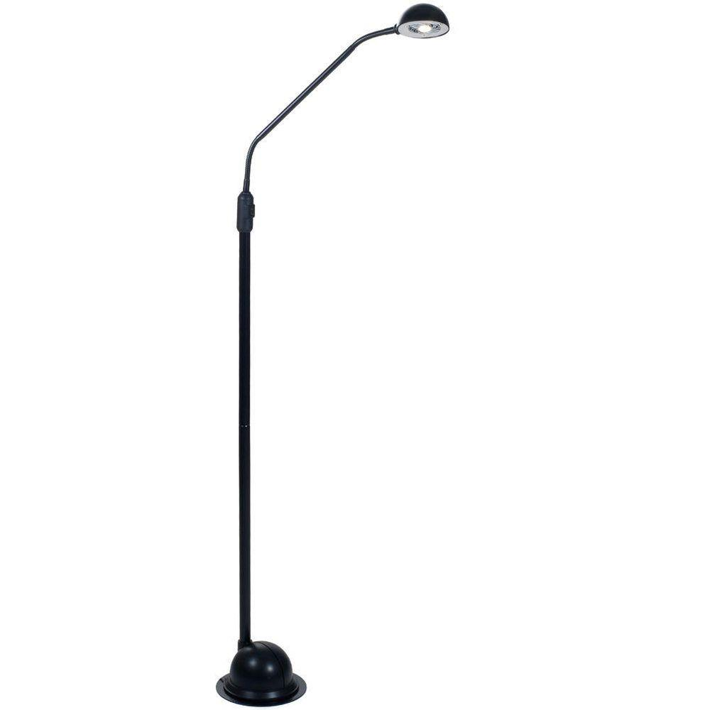 Ore International 76 In Modern Black Arc Floor Lamp With
