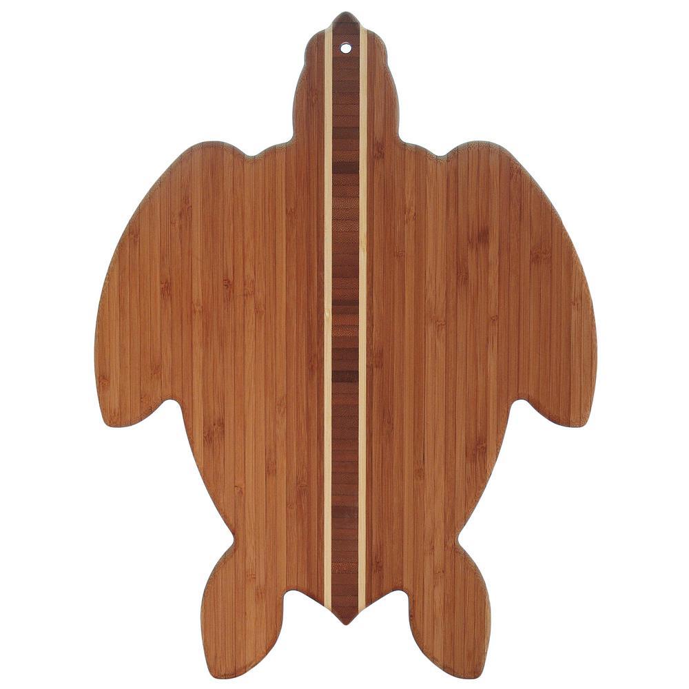 Totally Bamboo Sea Turtle Shape 1-Piece Cutting Board