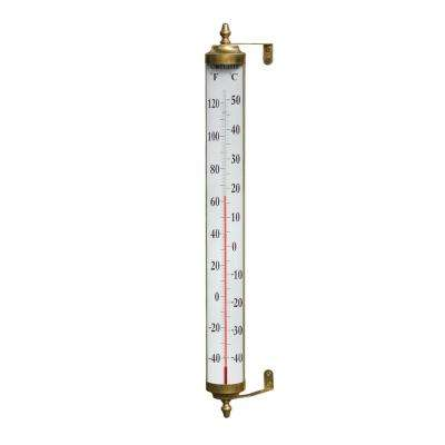 Vermont Giant Grande View Thermometer in Living Finish Brass
