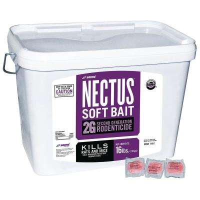 Nectus 16 lbs  Soft Bait 2 Gal  Second Generation Rodenticide Bait for Rats  and Mice Pail