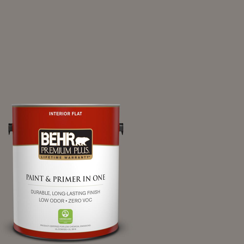 1 gal. #PPU18-17 Suede Gray Zero VOC Flat Interior Paint
