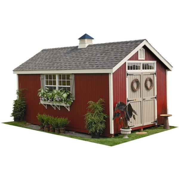 Unbranded Colonial Williamsburg 12 Ft X 20 Ft Wood Storage Shed Diy Kit With Floor Kit 12x20 Wcgs Wpnk Fk The Home Depot