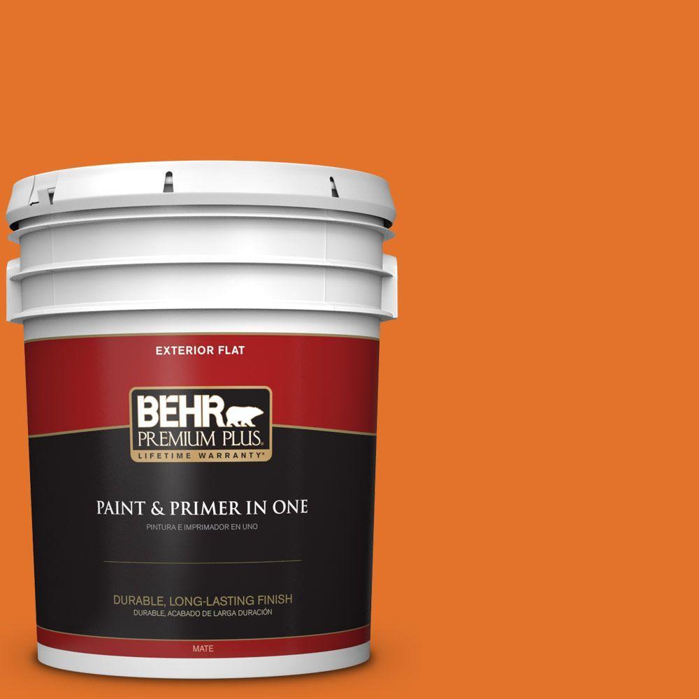 5-gal. #250B-7 Crushed Orange Flat Exterior Paint