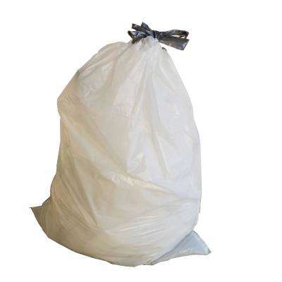 17 in. W x 16 in. H 4 Gal. 0.7 mil White Drawstring Bags (100-Case)