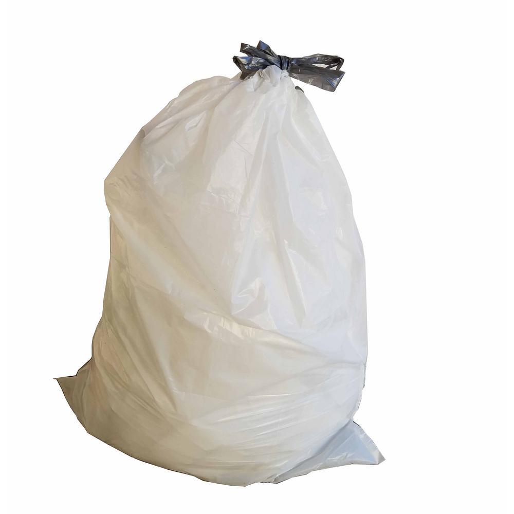 17 in. W x 16 in. H 4 Gal. 0.7 mil White Drawstring Bags (200-Case)