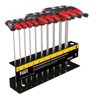 6 in. Journeyman SAE Ball-End T-Handle Set with Stand (10-Piece)