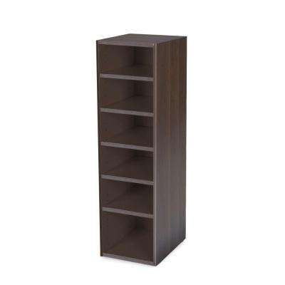 Mocha Stackable 7-Shelf Organizer