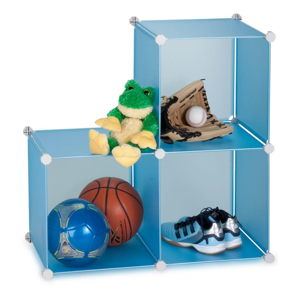 Honey-Can-Do 30.25 in x 30.25 in Blue Stackable Cube Organizer