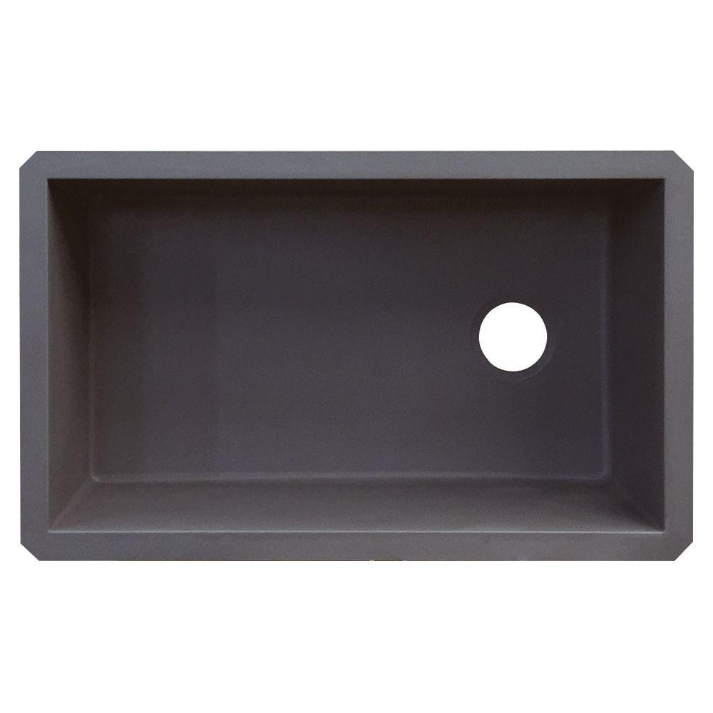 Transolid Radius Undermount Granite 32 In Single Bowl