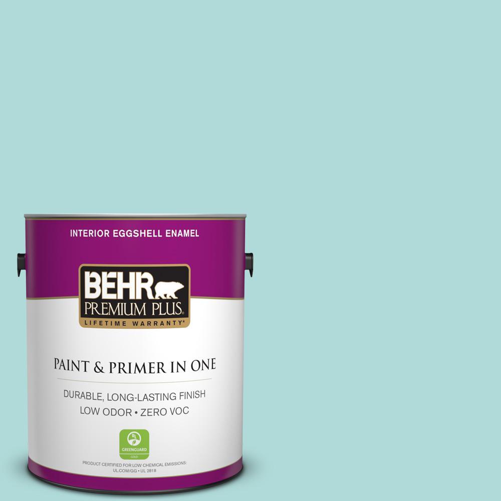 BEHR Premium Plus 1-gal. #510C-3 Rivers Edge Zero VOC Eggshell Enamel Interior Paint