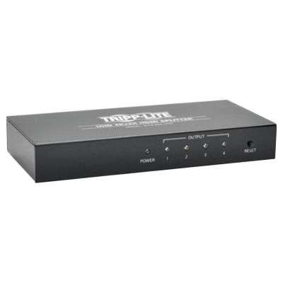 4-Port 4K HDMI Splitter for Ultra HD Video and Audio