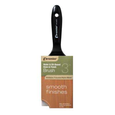 3 in. Flat Varnish Handle Stain and Finish Brush (12-Pack)