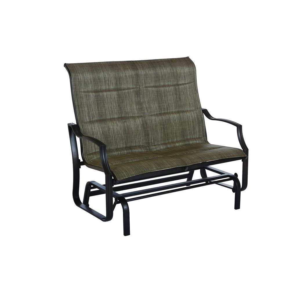 Beau Hampton Bay Statesville Metal Patio Outdoor Double Glider