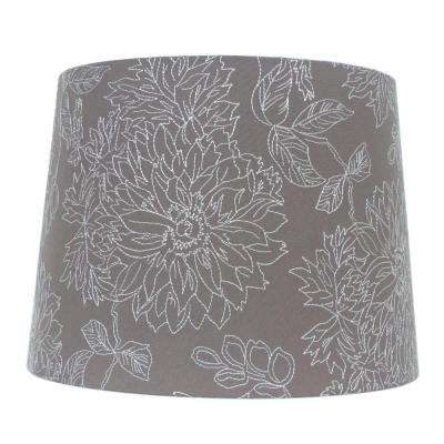 Empire cottage lamp shades lamps the home depot h dark grey embroidered hardback empire lamp shade aloadofball Gallery